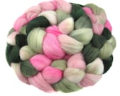 Polwarth Combed Top aka Roving for spinning or felting - Ribbon Candy