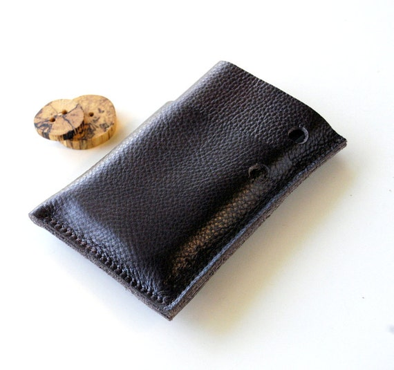 LEATHER iPhone Case - Gadgets, Phones, Ipod Classic - Triple Pocket Slightly Larger - Minimalist Series