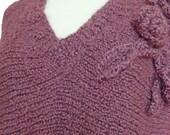 Hand Knit Dress, Plus Size 2X, Violet Plum
