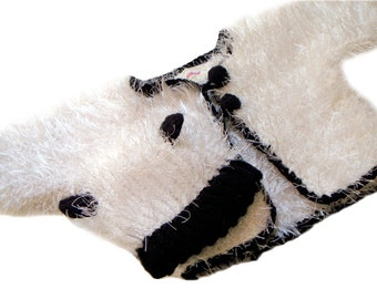 Baby Panda Jacket, Romper, Hat and Socks, Baby Crochet Panda Set