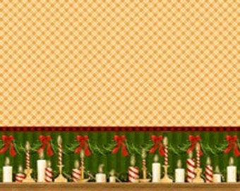 TABLECLOTH Fabric 75% OFF: Tan Plaid Christmas 60 inch wide Tablecloth Fabric from Holiday Homes for SSI