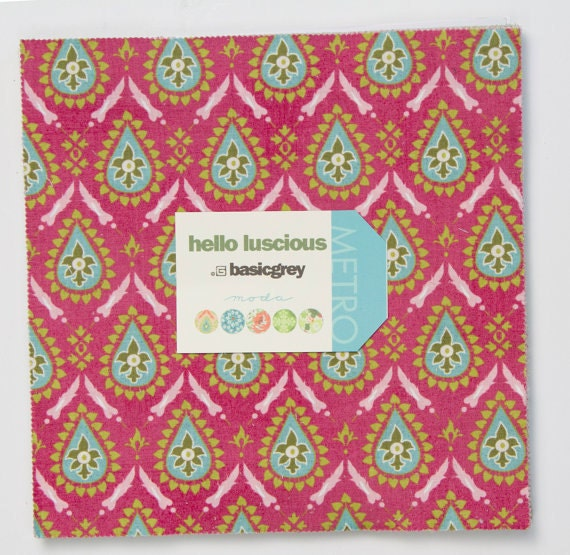 Hello Luscious Layer Cake by Basic Grey for Moda - 42 10 inch squares