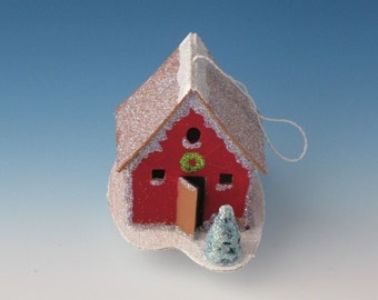 Small red house ornament