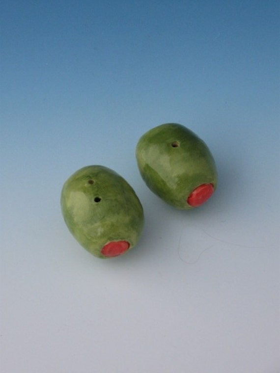 Home and Living, Dining Entertaining, Serving, SALT and PEPPER Shakers, Olives Salt and Pepper Shakers