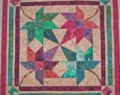 Quilted Table Topper/Wall hanging Autumn Maple Leaf