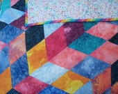 Handmade Patchwork Baby Quilt in Bright Colors