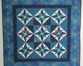 patchwork quilted wall art  Africa Star