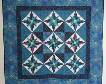 patchwork quilted wall art  Africa Handmade Quiltsy 45 x 45