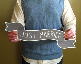 Large Banner No. 2 Wedding Photo Prop - Common Phrases