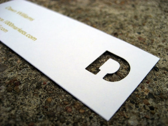 RESERVED - Die Cut Initial Calling Cards, Business Cards, Mommy Cards