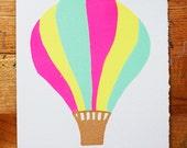 Hot Air Balloon Blank Greeting Card