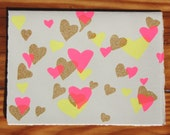 Valentines day hearts card
