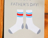 Father's Day Socks greeting card