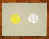Baseball and Tennis Ball Print