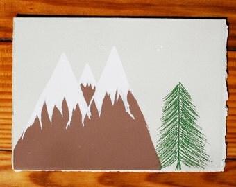 Mountains Blank Greeting Card