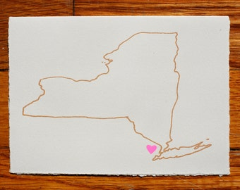 I Heart New York Blank Greeting Card