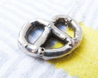 Solid Silver Pretzel Necklace