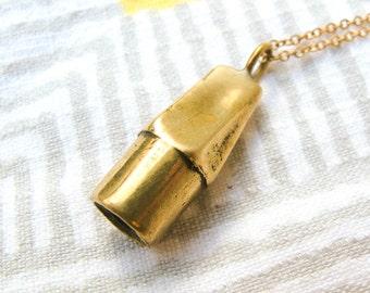 Brass Eraser Necklace