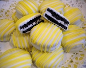 Sunshine Spring Yellow White Chocolate Covered Oreos Cookies Baby Shower Wedding Favors Birthday Christening You Are My Sunshine