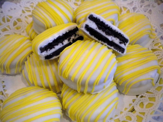 CUSTOM Listing for Angie Yellow chocolate Covered Oreos Cookies Party Favors