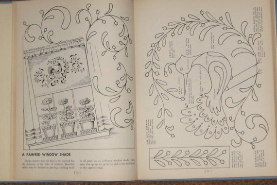 1948 book on Painting Patterns for Home Decorators. Patterns, instructions, and tips. Paint a bird on it.