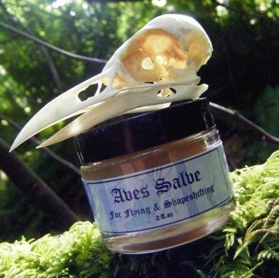 Aves Salve - A magical salve for flying, hedgecrossing, shapeshifting, or communing with a bird familiar