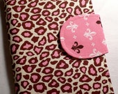 Made to Order, Kindle Cover, eReader Cover Book Style Pink and Brown Leopard Print