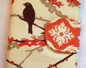 Kindle Paperwhite cover, iPad Mini Cover, Nook Cover,  Kindle Touch Cover, Kindle Fire Cover, Book Style Aviary 2 Sparrows Bark