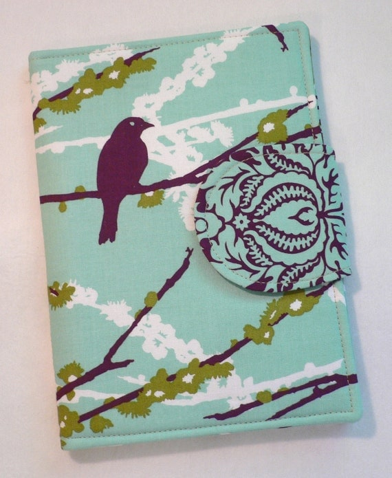 Kindle Cover, Kindle Paperwhite cover, iPad Mini, Nook Cover, Nook Color Cover, eReader Cover Book Style Aviary 2 Sparrows Plum