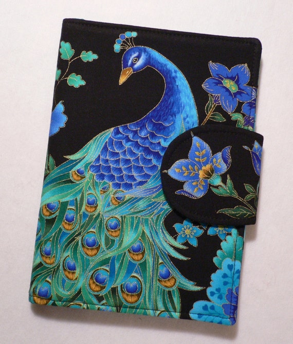 Kindle Paperwhite Cover, Kindle Fire cover, Kindle Touch cover, iPad Mini Cover Book Style, Peacock