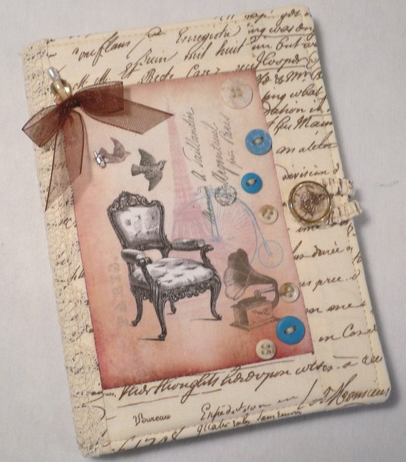 Kindle Paperwhite or Kindle Touch Cover,  Book Style, Elegance Post Card ,  ( Ready to Ship)