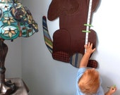 Choco the Lab Fabric Children's Growth Chart for Boys or Girls