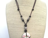 Cherry Blossoms.  A Signature Blossoms Biologie Necklace, Original Artwork