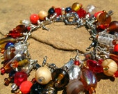 Red Maple.  A Fishers of Men Beaded Charm Bracelet