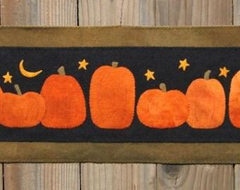 Pumpkin Harvest Wool Applique PATTERN