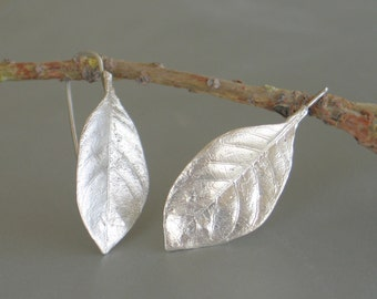 Gardenia leaf sterling silver Earrings