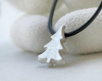 Christmas tree sterling silver pendant