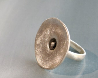 Scraggly circle Sterling Silver ring