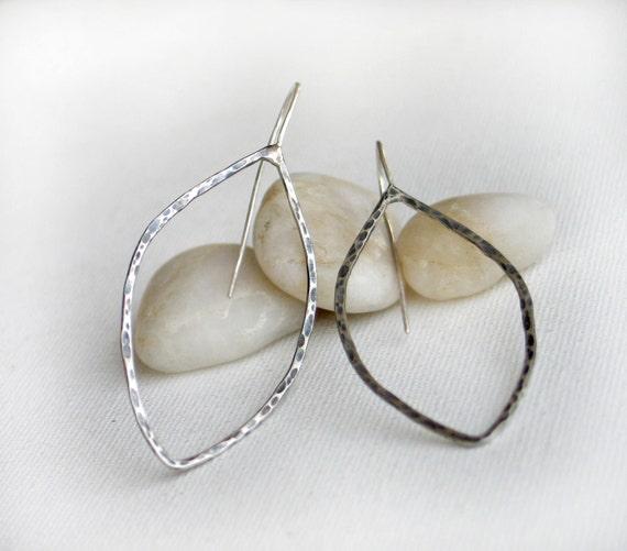 Empty leaf sterling silver Earrings