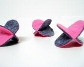 Felt Orb Catnip Nippy Toys Three-Pack in Pink on Gray