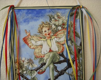 The Pear Blossom Fairy Art Wall Hanging