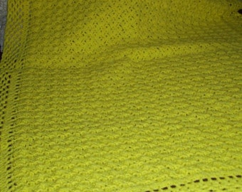 Sunshine Yellow Baby Afghan