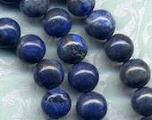 """Russian Lapis Lazuli full strand 15.5"""" 8mm round stones 50 beads"""