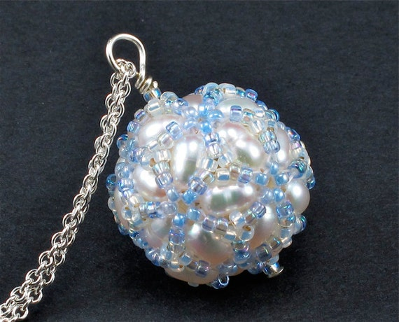PRICE REDUCED 25 PERCENT Handcrafted White Pearl Pendant