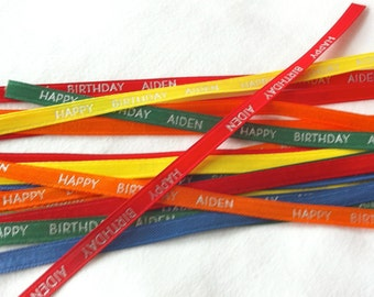 100 yards Continuous Print 3/8 inch Custom Personalized Ribbons - No Cuts