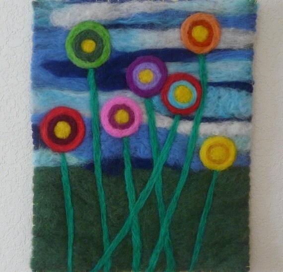 Fiber Art Painting Tapestry Needle Felted