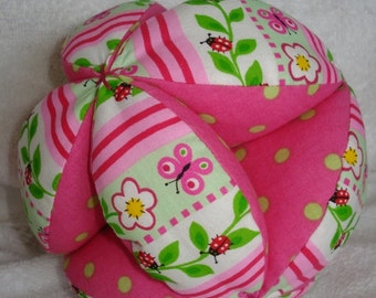 Ladybugs and Butterfies Easy-Catch Baby/Toddler Clutch Ball
