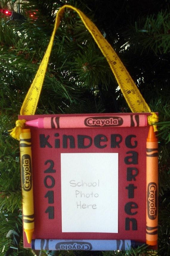 2011 Kindergarten Crayon Keepsake School Photo Ornament