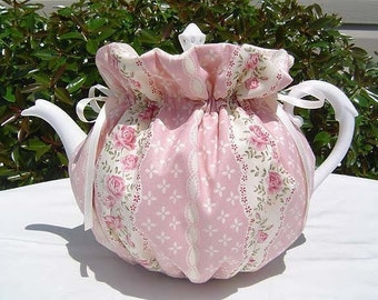 Tea Cozy for 6-8 Cup Teapot Reversible, Insulated ENGLISH ROSE  Tea Pot Cozy Cosy  Also Available in 1-2 Cup and 2-4 Cup Sizes, Upon Request