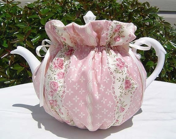 Tea Cozy For 6 8 Cup Teapot Reversible Insulated English Rose